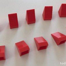 Juegos construcción - Tente: 10 CUÑAS 1X1 LISA ROJO EXIN. COMPATIBLE 100% CON TENTE. Lote 254561910