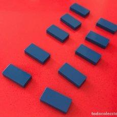 Juegos construcción - Tente: 10 PLACA 2X1 LISA AZUL. COMPATIBLE 100% CON TENTE. Lote 254562345