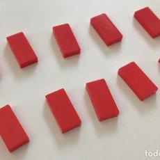 Juegos construcción - Tente: 10 PLACA 2X1 LISA ROJO EXIN. COMPATIBLE 100% CON TENTE. Lote 254562490