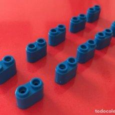 Juegos construcción - Tente: 10 BLOQUES 2X1 REDONDEADAS AZUL. COMPATIBLE 100% CON TENTE. Lote 254563430