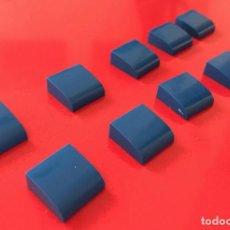 Juegos construcción - Tente: 10 PLACAS 2X2 GORDA LISA AZUL. COMPATIBLE 100% CON TENTE. Lote 254564860