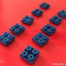 Juegos construcción - Tente: 10 PLACAS 2X2 MACHO MACHO AZUL. COMPATIBLE 100% CON TENTE. Lote 254565080