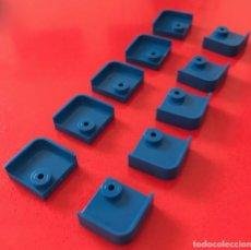 Juegos construcción - Tente: 10 PLACAS 2X2 ESQUINA BARANDILLA AZUL. COMPATIBLE 100% CON TENTE. Lote 254565320