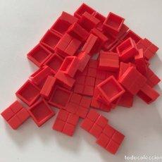 Juegos construcción - Tente: 50 PLACAS 1X1 PISTA DE ATERRIZAJE ROJO. COMPATIBLE 100% CON TENTE. Lote 256099480