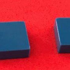 Juegos construcción - Tente: 4 PLACAS 1X1 LISA AZUL. COMPATIBLE CON TENTE. Lote 257713725