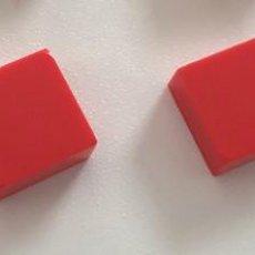 Juegos construcción - Tente: 4 PLACAS 1X1 LISA ROJO. COMPATIBLE CON TENTE. Lote 257713845