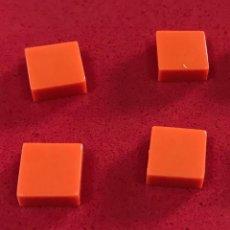 Juegos construcción - Tente: 4 PLACAS 1X1 LISA NARANJA. COMPATIBLE CON TENTE. Lote 257714135