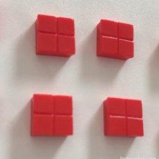Juegos construcción - Tente: 4 PLACAS 1X1 PISTA ATERRIZAJE ROJO. COMPATIBLE CON TENTE. Lote 257714430
