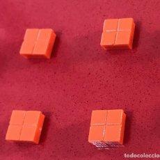 Juegos construcción - Tente: 4 PLACAS 1X1 PISTA DE ATERRIZAJE NARANJA. COMPATIBLE CON TENTE. Lote 257714915