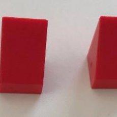 Juegos construcción - Tente: 4 CUÑAS 1X1 ROJO. COMPATIBLE CON TENTE. Lote 257715075