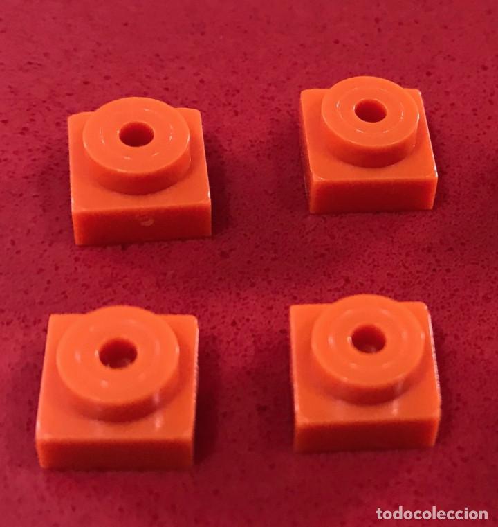 4 PLACAS 1X1 TETÓN NARANJA. COMPATIBLE CON TENTE (Juguetes - Construcción - Tente)