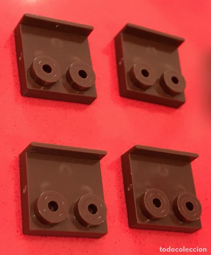 4 PLACAS 2X2 BARANDILLA MARRON OSCURO. COMPATIBLE CON TENTE (Juguetes - Construcción - Tente)