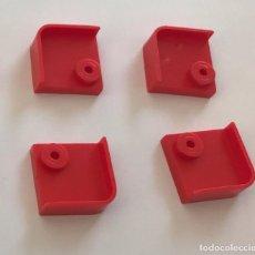 Juegos construcción - Tente: 4 PLACAS 2X2 ESQUINA BARANDILLA ROJO. COMPATIBLE CON TENTE. Lote 257803905