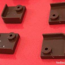 Juegos construcción - Tente: 4 PLACAS 2X2 ESQUINA BARANDILLA MARRON OSCURO. COMPATIBLE CON TENTE. Lote 257803965