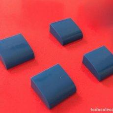 Juegos construcción - Tente: 4 PLACAS 2X2 GORDA LISA AZUL. COMPATIBLE CON TENTE. Lote 257805060
