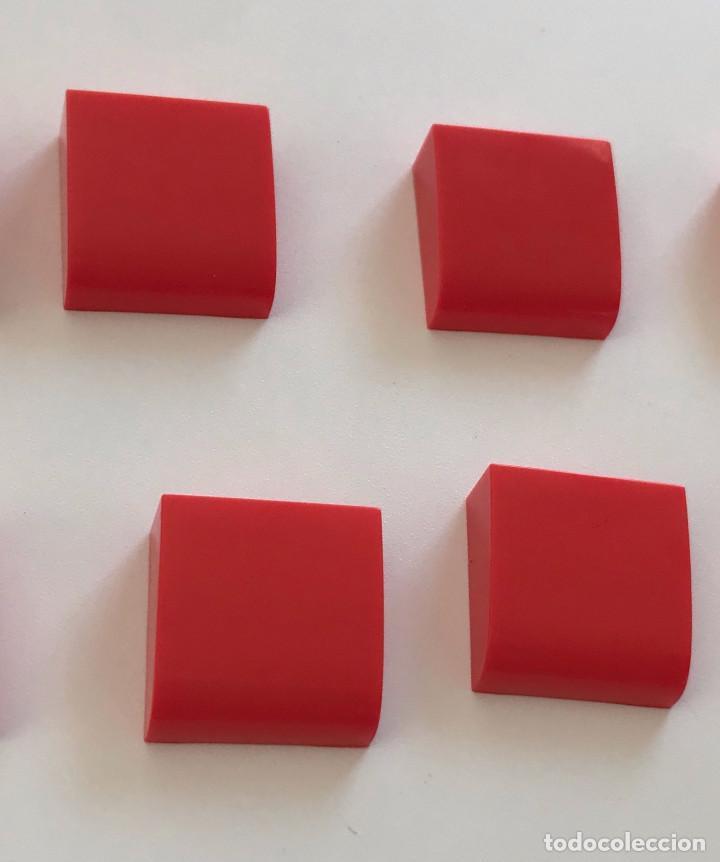 4 PLACAS 2X2 GORDA LISA ROJO. COMPATIBLE CON TENTE (Juguetes - Construcción - Tente)