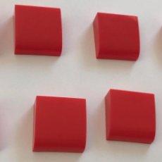 Juegos construcción - Tente: 4 PLACAS 2X2 GORDA LISA ROJO. COMPATIBLE CON TENTE. Lote 257805140