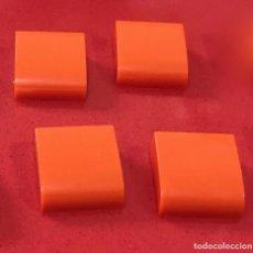 Juegos construcción - Tente: 4 PLACAS 2X2 GORDA LISA NARANJA. COMPATIBLE CON TENTE. Lote 257805345