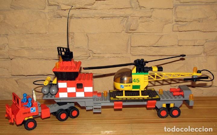 TENTE AIRE - EXIN - HELICOPTERO AUTOTRANSPORTADO - 0530 - COMPLETO (Juguetes - Construcción - Tente)
