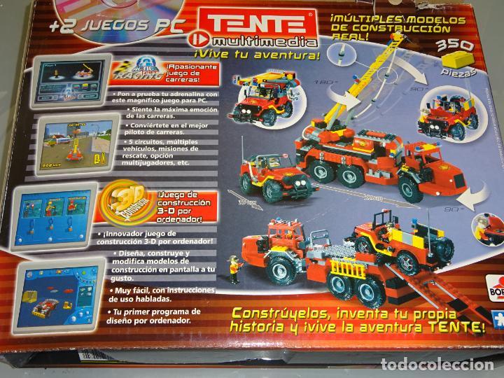Juegos construcción - Tente: JUEGO JUGUETE CONSTRUCCIÓN TENTE BORRAS. CAMIÓN Y JEEP DE BOMBEROS. CON CAJA E INSTRUCCIONES. 1,1KG - Foto 2 - 268828774