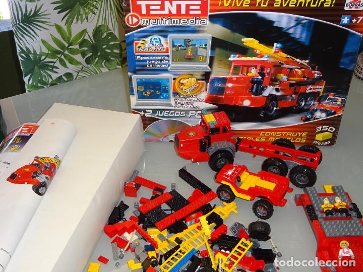 Juegos construcción - Tente: JUEGO JUGUETE CONSTRUCCIÓN TENTE BORRAS. CAMIÓN Y JEEP DE BOMBEROS. CON CAJA E INSTRUCCIONES. 1,1KG - Foto 6 - 268828774