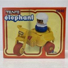 Juegos construcción - Tente: TENTE ELEPHANT MOTO AMARILLA 0240. VINTAGE AÑO 1.983. NUEVO.. Lote 269805468