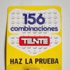 Juegos construcción - Tente: PUBLICIDAD DE TENTE UNICA - BLISTER CON 156 COMBINACIONES CON DOS PIEZAS HAZ LA PRUEBA PIEZA RARA!. Lote 270166553