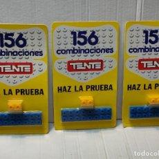 Juegos construcción - Tente: TENTE HAZ LA PRUEBA 156 COMBINACIONES CON 2 PIEZAS EN BLISTER ORIGINAL LOTE 3 UNIDADES. Lote 274639593