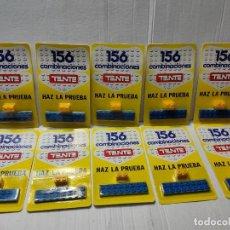 Juegos construcción - Tente: TENTE HAZ LA PRUEBA 156 COMBINACIONES CON 2 PIEZAS EN BLISTER ORIGINAL LOTE 10 UNIDADES. Lote 274639968