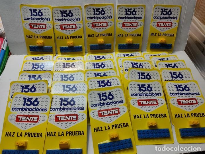 TENTE HAZ LA PRUEBA 156 COMBINACIONES CON 2 PIEZAS EN BLISTER ORIGINAL LOTE 30 UNIDADES (Juguetes - Construcción - Tente)
