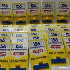 Juegos construcción - Tente: TENTE HAZ LA PRUEBA 156 COMBINACIONES CON 2 PIEZAS EN BLISTER ORIGINAL LOTE 30 UNIDADES. Lote 274640328