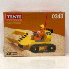 Juegos construcción - Tente: TENTE COMPACT REF 0343 EXCAVATOR. NUEVO. VINTAGE. AÑO 1.988. A ESTRENAR CON PRECINTO.. Lote 287729023