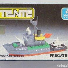 Juegos construcción - Tente: ANTIGUO JUGUETE CONTRUCCION TENTE MIRO MECCANO FRANCIA. BARCO BUQUE MILITAR CONSUL FRAGATA. 60GR. Lote 289451103