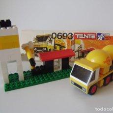 Juegos construcción - Tente: TENTE RUTA 0693 SILO Y CAMIÓN CEMENTO 100% COMPLETO + INSTRUCCIONES. Lote 289619458