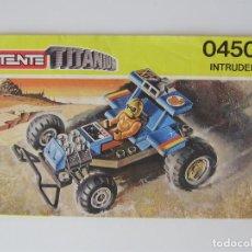 Juegos construcción - Tente: TENTE TINANIUM 0450 INTRUDER MANUAL DE INSTRUCCIONES. Lote 290083263