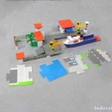 Juegos construcción - Tente: PUERTO CON BARCO TENTE MICRO REF 0427. Lote 295486818