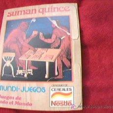 Juegos educativos: SUMAN QUINCE. MUNDI-JUEGOS. JUEGOS DE TODO EL MUNDO. CEREALES NESTLE. JUEGOS EDUCA. AÑOS 80.. Lote 9216494