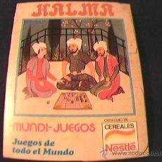 Juegos educativos: HALMA. MUNDI-JUEGOS NESTLE. JUEGOS EDUCA. OBSEQUIO DE CEREALES NESTLE.. Lote 11321198