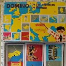 Juegos educativos: JUEGO DE DOMINO DE LAS CAPITALES DE EUROPA. 23/28 FICHAS INCLUIDAS. DIDACTA. JUEGO EDUCATIVO. . Lote 12750873