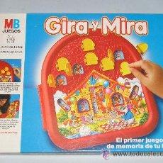 Juegos educativos: GIRA Y MIRA - EL PRIMER JUEGO DE MEMORIA PARA TU HIJO A PARTIR DE 4 AÑOS MB - NUEVO A ESTRENAR. Lote 19460058