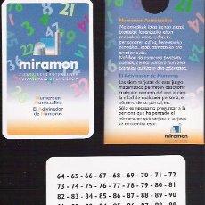 """Juegos educativos: JUEGO NUMERICO """" EL ADIVINADOR DE NUMEROS """" MIRAMON, KUTXA ESPACIO DE LA CIENCIA, NAIPES COMAS.. Lote 26370610"""