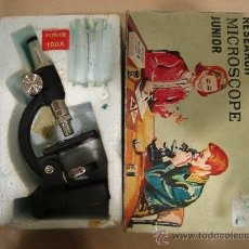 Juegos educativos: RESEARCH MICROSCOPE JUNIOR. MIGHTY MICROSCOPE. MICROSCOPIO PARA NIÑOS. POWER 150X. . Lote 23056168