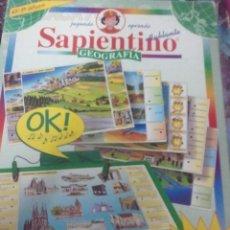 Juegos educativos: SAPIENTINO GEOGRAFÍA DE CLEMENTONI. Lote 28176126