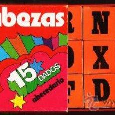 Juegos educativos: ROMPECABEZAS DE BOLSILLO - LETRAS Y PALABRAS - 15 DADOS CARTON - FAB.PAPIROTS/ JMT - AÑOS 70 / 80. Lote 28576810