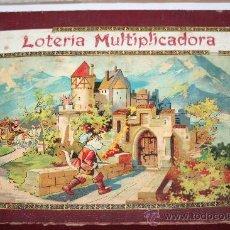 Juegos educativos: PPIOS SIGLO XX.- LOTERÍA MULTIPLICADORA CON INSTRUCCIONES DENTRO.- INCOMPLETA. Lote 28872296