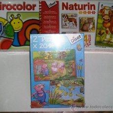 Juegos educativos: JUEGOS EDUCATIVOS A PARTIR 3 AÑOS NATURIN GIRA COLOR DOS PUZZLES DE 48 PIEZAS 26X19 DISET - NUEVOS. Lote 29319771