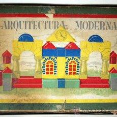 Juegos educativos: ARQUITECTURA MODERNA - JUGUETE DE MADERA COMPLETO - AÑOS 40 - 50. Lote 29381746