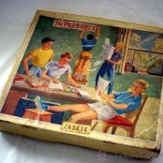 Juegos educativos: IMPRENTILLA INFANTÍL - IMPRESORES - MODELO CADETE - AÑOS 50. Lote 29382362