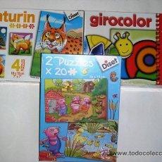 Juegos educativos: JUEGOS EDUCATIVOS A PARTIR 3 AÑOS NATURIN GIRA COLOR DOS PUZZLES DE 48 PIEZAS 26X19 DISET - NUEVOS. Lote 29656633