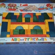 Juegos educativos: JUEGO EDUCATIVO INFANTIL ARQUITECTURA ( DE JUPDOSA MADE IN SPAIN ) EN MADERA . AÑOS 70 . A ESTRENAR. Lote 225178425